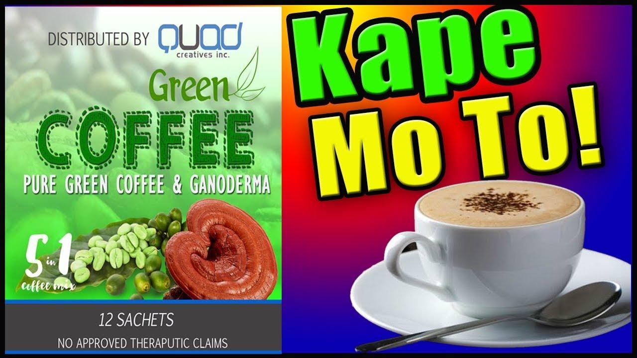 Quad Creatives Coffee Product Green White Ganoderma