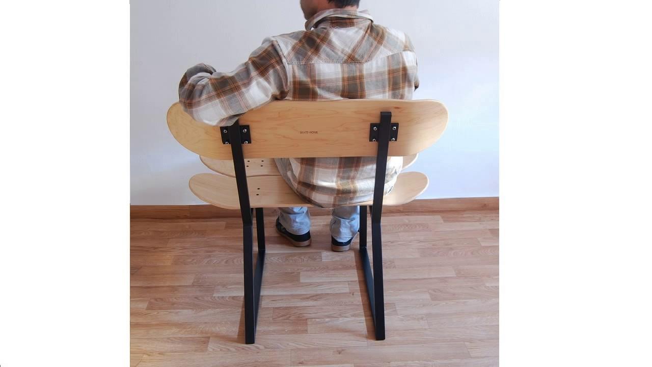 raumdekoration f r kind sportler skateboard stuhl. Black Bedroom Furniture Sets. Home Design Ideas