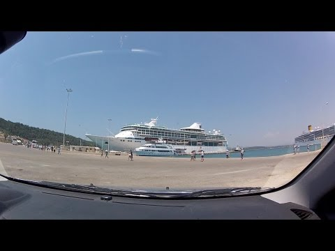 Alfeios river to Katakolo port (rural roads, highway and some city driving, Greece) - onboard camera