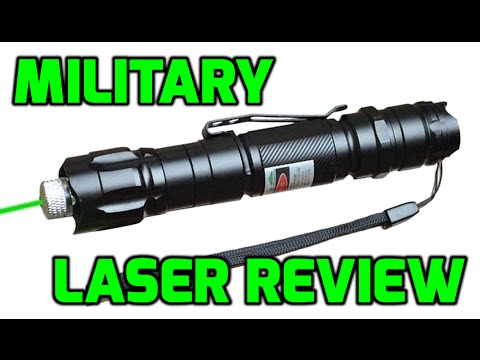 Green 532nm Chinese Military Laser Pointer Review