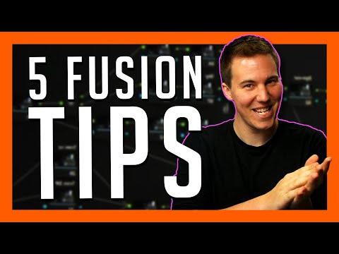 TOP 5 TIPS FOR WORKING IN FUSION - DaVinci Resolve 16 Basics Tutorial