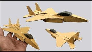 Hoe Maak je Een F-15 straaljager Uit Karton - DIY Kartonnen Speelgoed Voor Kinderen