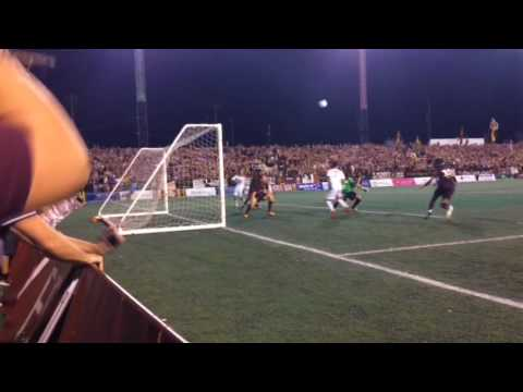 Detroit City FC nearly scores in the 117th minute of the NPSL semifinals but hits crossbar