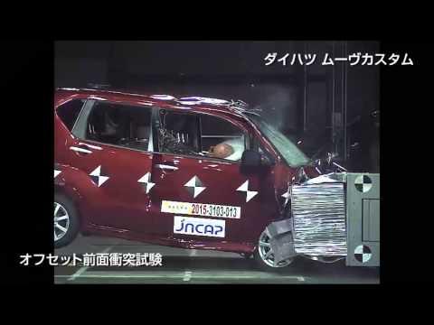 自動車アセスメント:ダイハツムーヴカスタム:オフセット前面衝突試験