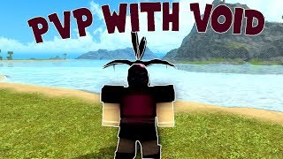 PVP with VOID ARMOR | Roblox Booga Booga