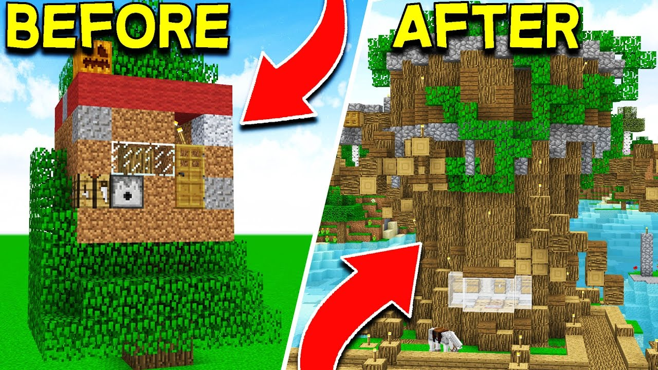how to make the ultimate minecraft tree house! (ep 5) - youtube