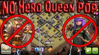 New 3 Star TH9 NO HERO Queen POP Guide! Update Meta Attack Clash of Clans
