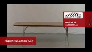"8' X 30"" Banquet / Rectangle Plywood Folding Tables"