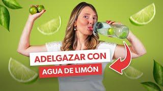 Cómo beber AGUA DE LIMÓN para BAJAR DE PESO