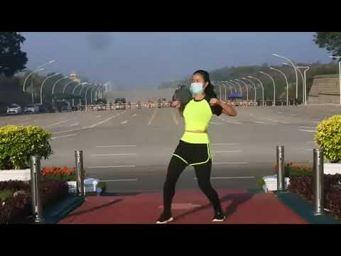 Transmitía sus clases de aerobic mientras estaban dando un golpe de Estado en Nyanmar