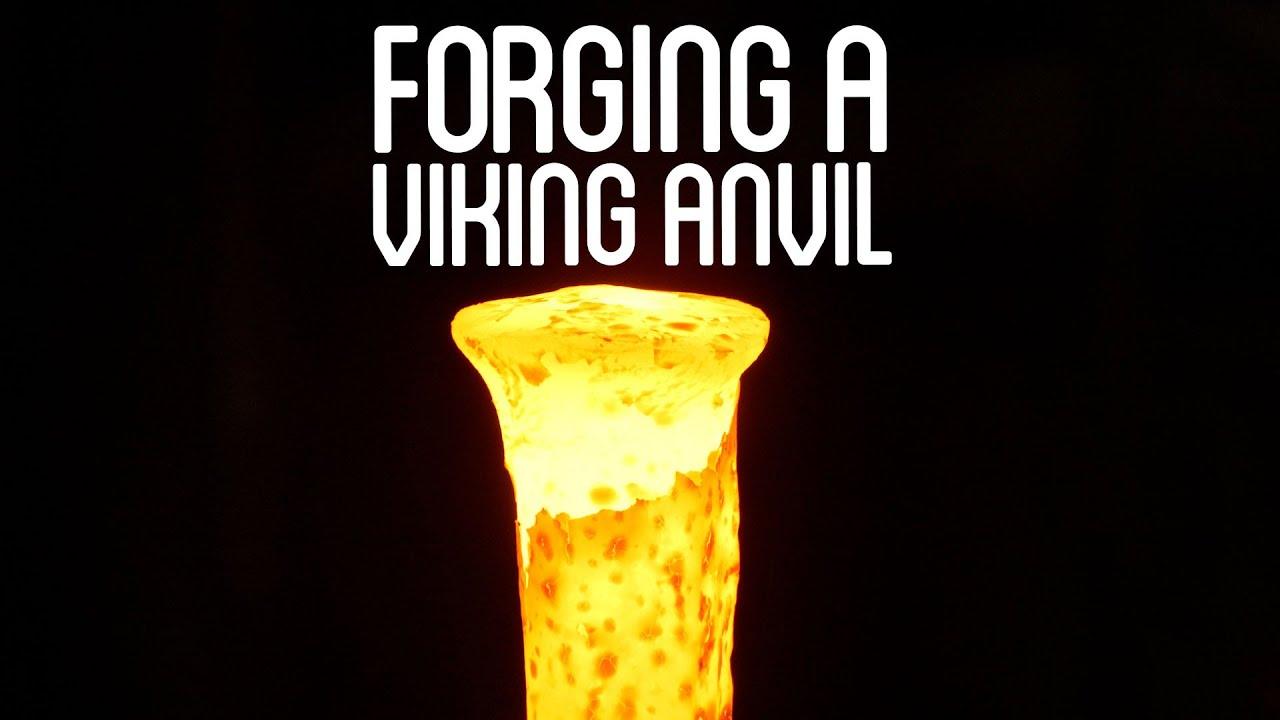 Forging a Viking Anvil