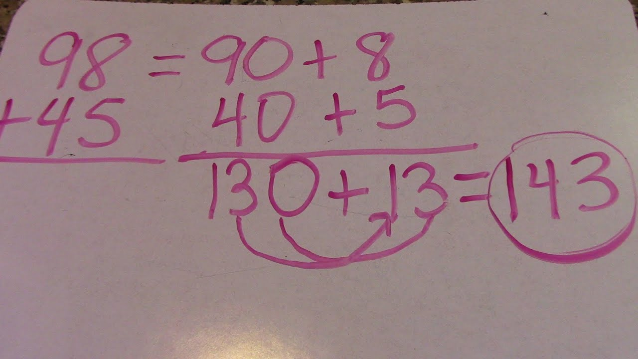 2 Digit Expanded Form Addition Common Core Math