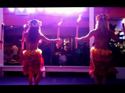 Hula Dancers at Louie's Backyard Luau, South Padre Island-Highlights