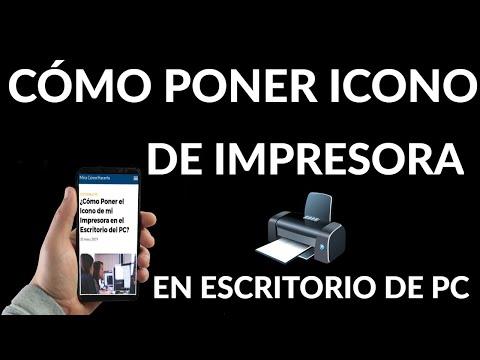 Cómo Poner Icono de Impresora en el Escritorio del PC