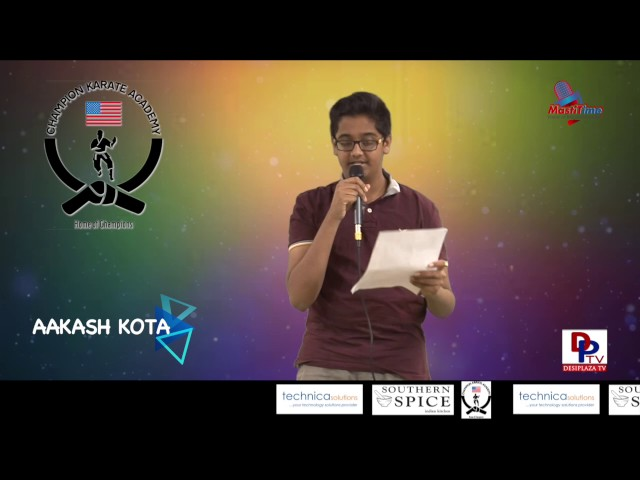 "Akash Kota speaks about ""Plants have feeling too"" in Talking Bee - Public Speaking competitions 2016"