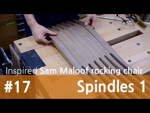 말루프 흔들의자 만들기 17. 등살(1) / Inspired Maloof rocking chair 17.Spindles(1)