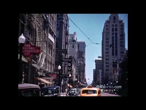 Never Before Seen Color Footage of 1939 Downtown Dallas