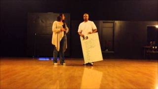 Penguin Swing 2013 Beginner Blues recap part 1  with Curtis Ellis and Elizabeth Tuazon
