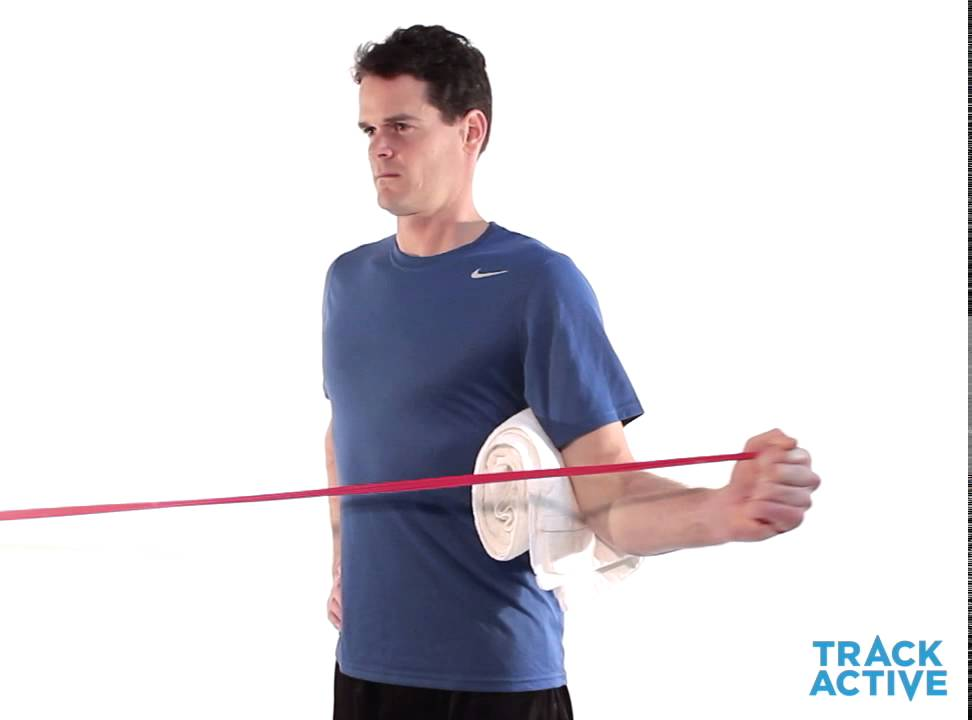 Shoulder External Rotation With Towel Roll Youtube