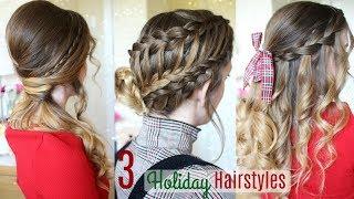 3 Holiday Hairstyles   Christmas Hair 2017   Braidsandstyles12