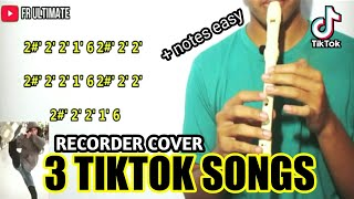 MUDAH!!! Not angka 3 LAGU TIKTOK RECORDER COVER | cover by FR ULTIMATE | Recorder Cover Indonesia