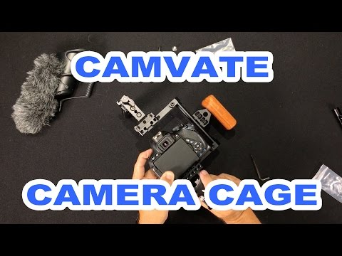 CAMVATE DSLR Camera Cage Top Handle Wood Grip for Canon, Nikon, Panasonic and Sony Cameras