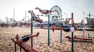 Coney Island beach workout NYC