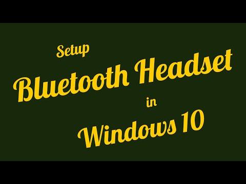 Connect and Setup Bluetooth Headset in Windows 10 - Professor U