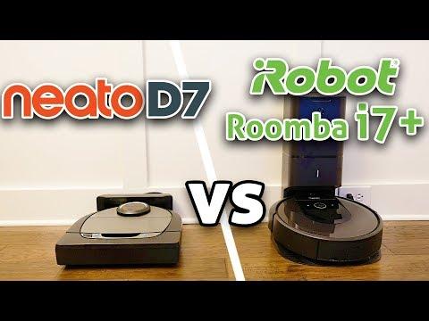 Neato D7 vs Roomba i7+ Robot Vacuum Comparison!
