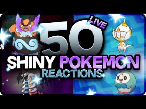 50 EPIC SHINY POKEMON REACTIONS! Pokemon Ultra Sun and Moon Shiny Montage! Best Shiny Reactions!