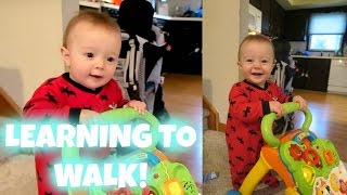 8 MONTH OLD LEARNING TO WALK!
