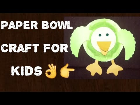 How to make waste out of paste from paper bowl # Duck    By CRAFT WORLD (Tutorial)