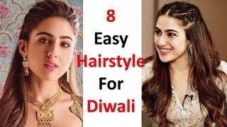 8 quick and easy hairstyle for diwali | diwali special hairstyle | easy hairstyles | juda hairstyle
