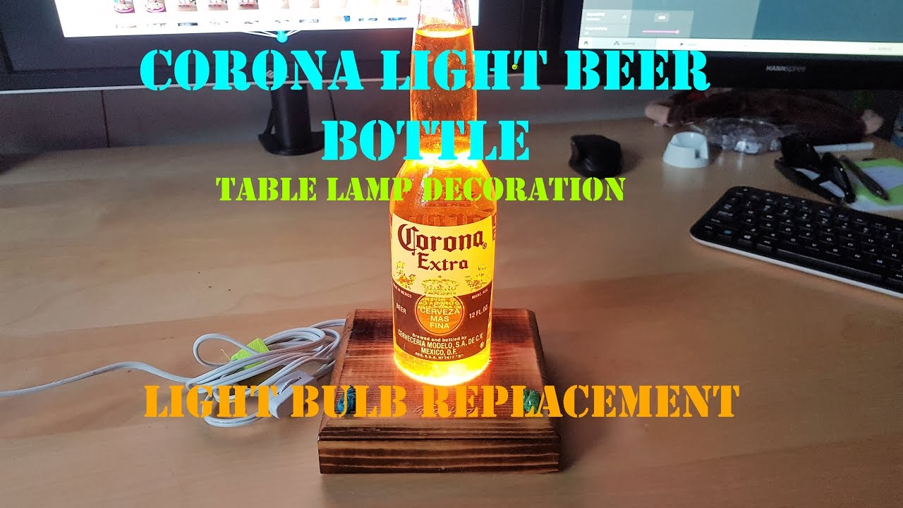 Corona Extra Beer Bottle Table Lamp Decoration   LIGHT BULB REPLACEMENT