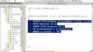 Introduction to creating Basic stored procedures in SQL Server 2008