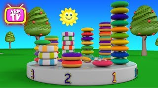 Learn numbers with candy and cake - cartoons for children