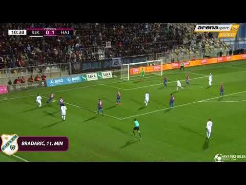 HNK Rijeka  - HNK Hajduk Split 1:2, sažetak