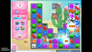 Candy Crush Level 681 Audio Talkthrough, 2 Stars 0 Boosters