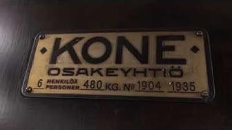 IT'S MODERNIZED!!! 1935 KONE (mod.) traction elevator @ Korkeavuorenkatu 47, Helsinki, Finland.