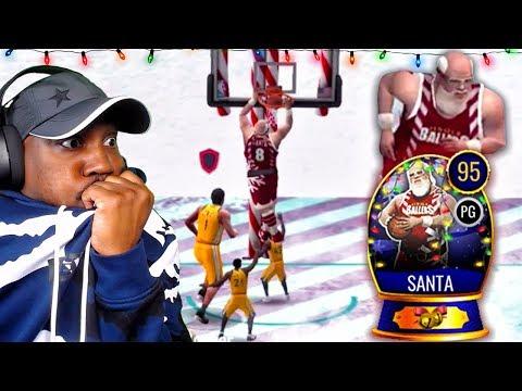 95 OVR SANTA DUNKING IN NORTH POLE! NBA Live Mobile 20 Season 4 Gameplay Ep. 23
