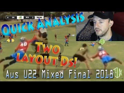 Quick analysis: Two layout Ds from Sean Davis in the AUS U22 Mixed Final 2018
