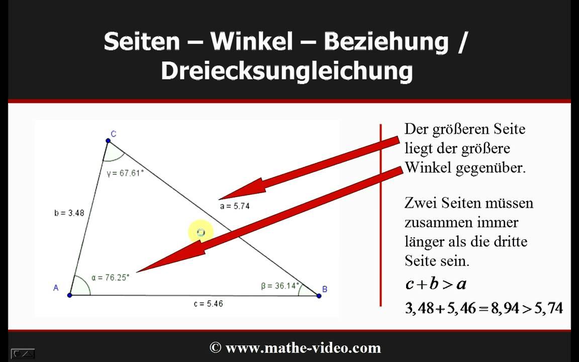 Dreiecke konstruieren, Kongruenzsätze, Dreiecksungleichung - © www ...