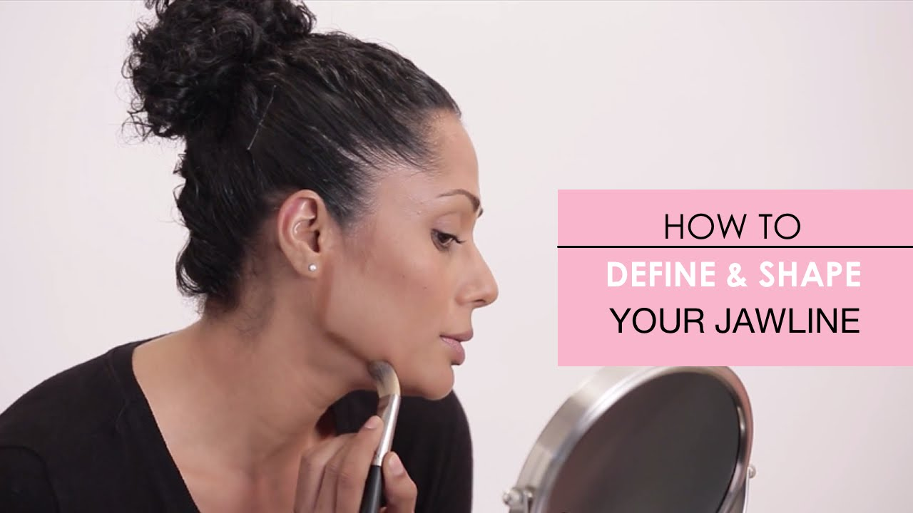 how to contour and hide a double chin
