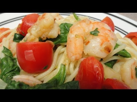 Actually Healthy Garlic Shrimp Pasta
