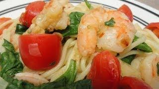 Actually Healthy Garlic Shrimp Pasta