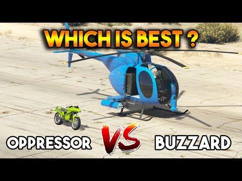 GTA 5 ONLINE : OPPRESSOR VS BUZZARD ATTACK CHOPPER (WHICH IS BEST?)