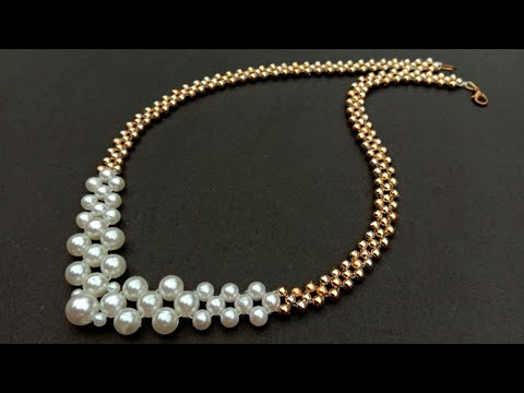 How to make// Pearl Necklace//at home//pearl necklace// useful & easy