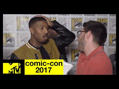 Michael B. Jordan Talks About His 'Black Panther' Character | Comic-Con 2017 | MTV