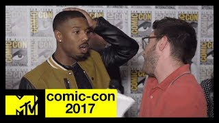 Michael B. Jordan Talks About His 'Black Panther' Character | Comic-Con 2017 | MTV