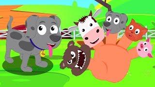 animal Dedo Família | Rimas de animais | Canções de enfermagem | Rhymes Songs | Animal Finger Family